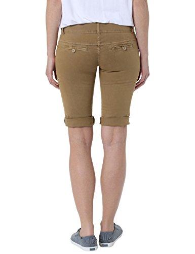 buy popular a3d31 156e6 Berydale Bermuda Stretch da Donna Stile Chino, pantaloni corti, Marrone, 38